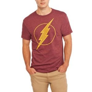 DC Comics Shirts - DC Comics Maroon Flash Short Sleeve Tee